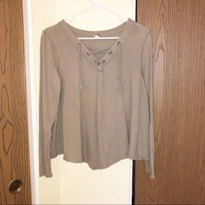 Free People | We the Free | Tie Neck Sweater | S